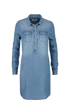 c956580628a9 Claudia Sträter Damen Kleid aus umweltfreundlichem Lyocell-Denim   Amazon.de  Bekleidung