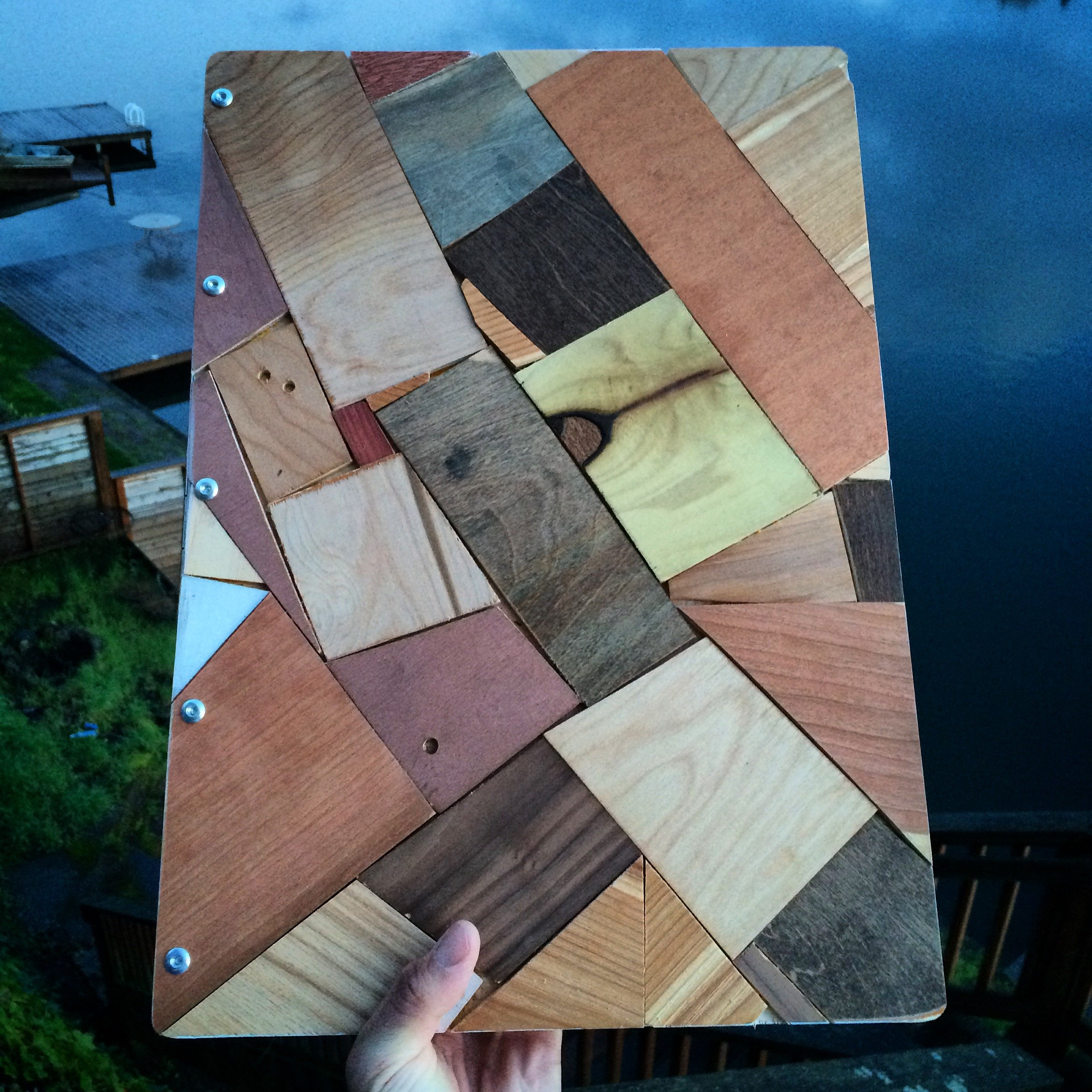 Upcycled Wooden Portfolio/Album/Heirloom/Wedding WITH 10 Sheet Protectors & CUSTOM ENGRAVING