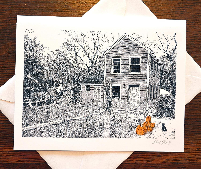 Autumn Scarecrow Note Card
