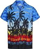 Mens Hawaiian Shirt Short Sleeve STAG Beach Holiday Palm Tree Fancy Dress Hawaii - All Sizes