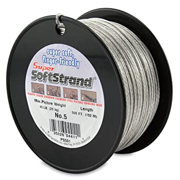 Amazon SuperSoftstrand 500 Feet Picture Wire Vinyl Coated