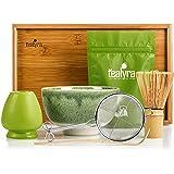 Tealyra - Matcha Kit - Connoisseur Ceremony Start Up Set - Premium Matcha Tea Powder - Japanese Made Green Bowl - Bamboo Whis