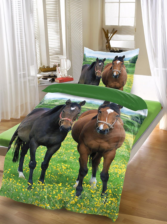 Cavallo 80x80-135x200 BRAND sseller/-/di alta qualit/à a forma di animale set di biancheria da letto in microfibra set Cavallo copripiumino: 135/x200/cm federa per cuscino: 80/X80/con chiusura lampo Microfibra