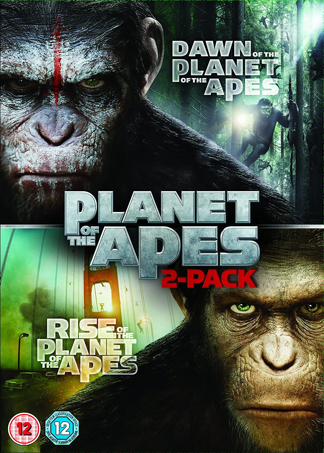 Amazon Com Dawn Of The Planet Of The Apes Rise Of The Planet Of The Apes Double Pack Dvd Movies Tv