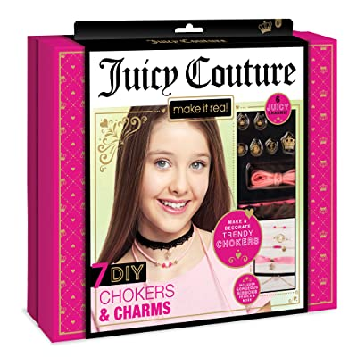 Make It Real - Juicy Couture Chokers and Charms. DIY Choker Jewelry Making Kit for Girls. Design and Create Girls Choker Necklaces with Juicy Couture Charms, Beads, Ribbons, and Chains: Toys & Games