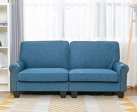 Amazon.com: LifeFair - Sofá tapizado tradicional de 67.2 in ...