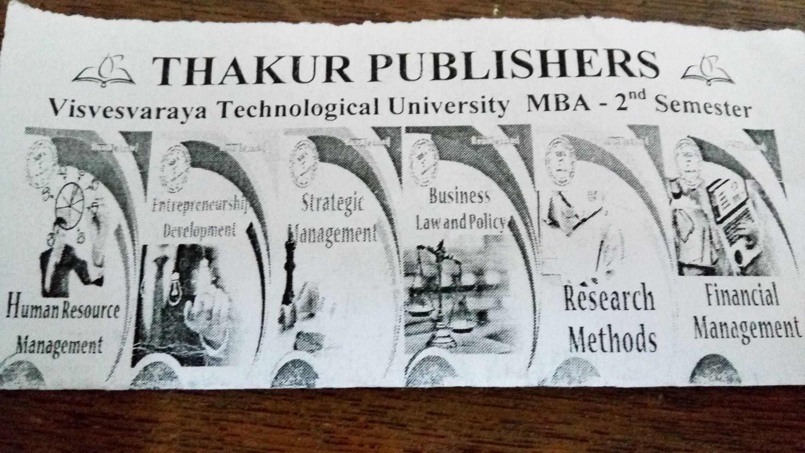 Amazon in: Buy Thakur MBA Handbook VTU II Sem all in one