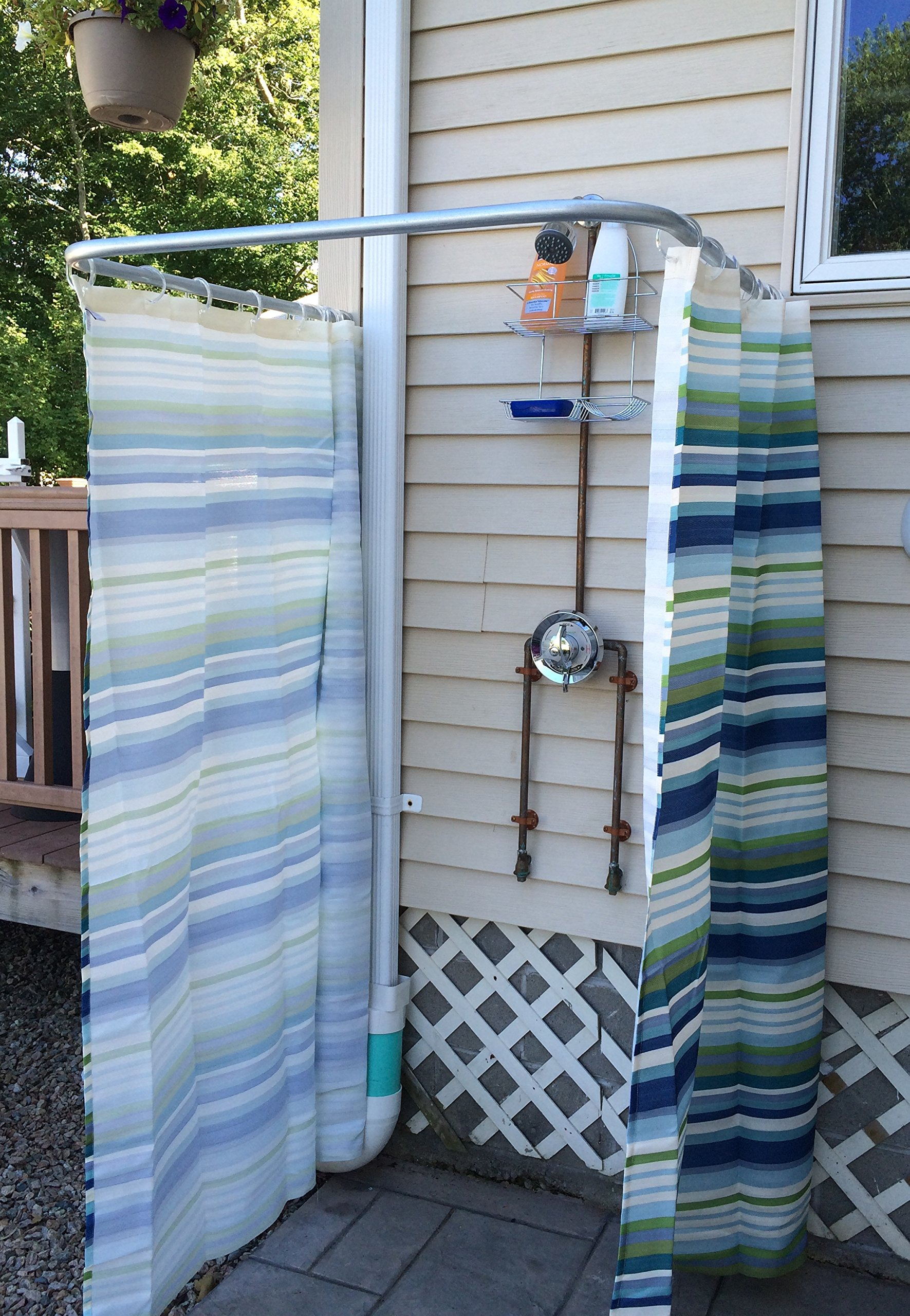 Aberdeen Parts Store 32'' Indoor Outdoor Removable Shower Curtain Rod - Heavy Duty by Aberdeen Parts Store (Image #3)