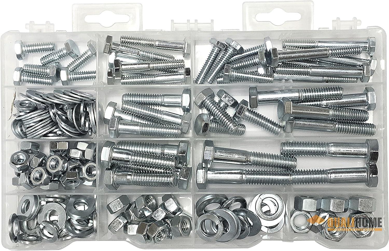 Heavy Duty Nut & Bolt Assortment Kit, 172 Pieces, Includes 9 Most Common Sizes 91zeDyX8gHL