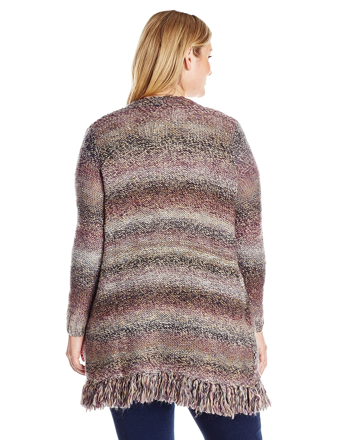 Lucky Brand Women's Plus Size Fringe Cardigan Sweater