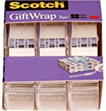 Scotch Gift Wrap Tape, 3 Rolls, The Go-to Tape for The Holidays, 3/4 x 300 Inches, Dispensered (311)