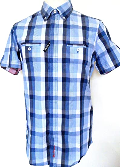 Ben Sherman Vallarta Blue Tab Check Short Sleeved Shirts