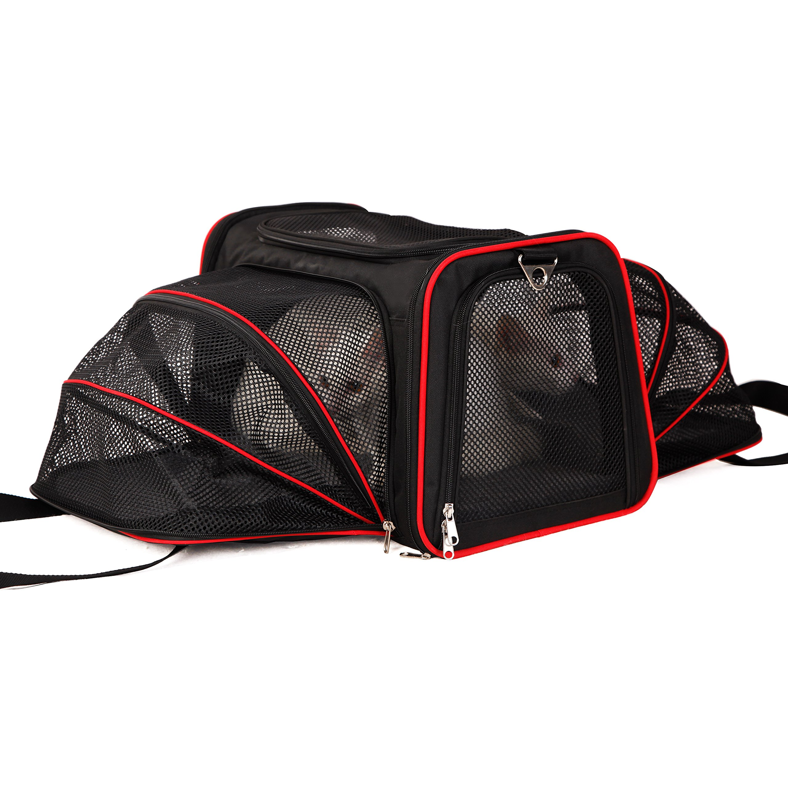 A4Pet Airline Approved Pet Carrier, Both Side Expandable, Top Loading Cats Small Dogs Puppy Small Animals