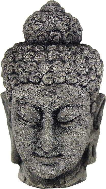 Amazon Com Small Buddha Head Concrete Garden Statues Kitchen Dining
