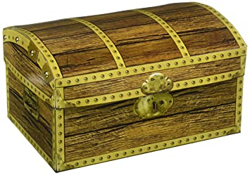 Treasure Chest >> Amazon Com Beistle 50354 Treasure Chest Box 8 Inch By 5 1 2 Inch