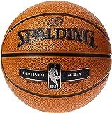 Spalding Unisex Adult NBA Platinum Series Outdoor Rubber Basketball - Orange, Size 7