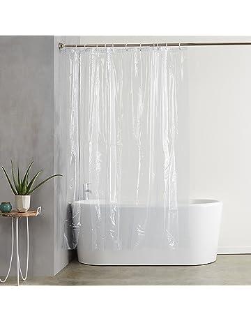 AmazonBasics - Forro transparente de PVC para cortina de ducha (180 x 200 cm)
