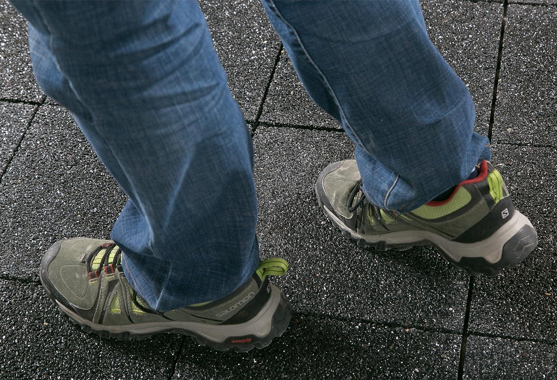 8 St/ück BodenMax/® Kieselstein Click Bodenfliesen Set 30 x 30 cm Terrassenfliesen Kiesel Terrassenplatte Stein Fliese Pebble Flussstein Klickfliesen Mosaik schwarz