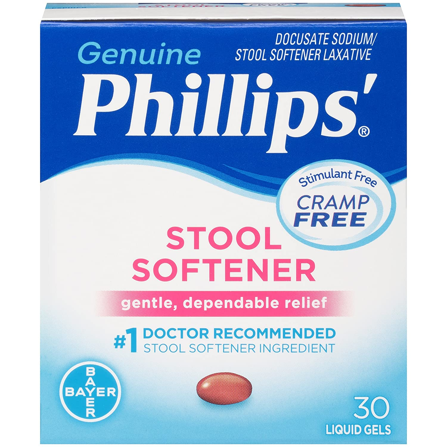 Amazon.com: Phillips Stool Softener Liquid Gels (30-Count Box, Pack of 2): Health & Personal Care