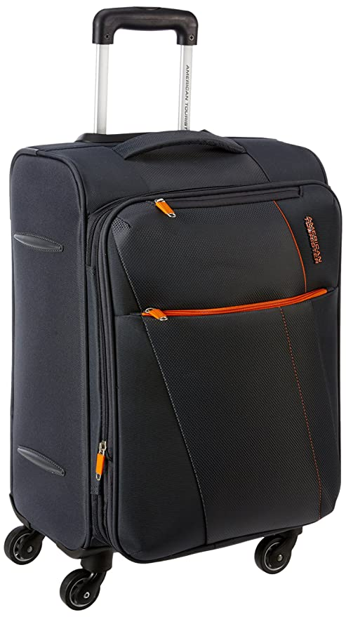 dc0d9b50a American Tourister Michigan Polyester 57 cms Grey Carry-On (AMT Michigan  SP57CM TSA Grey): Amazon.in: Bags, Wallets & Luggage