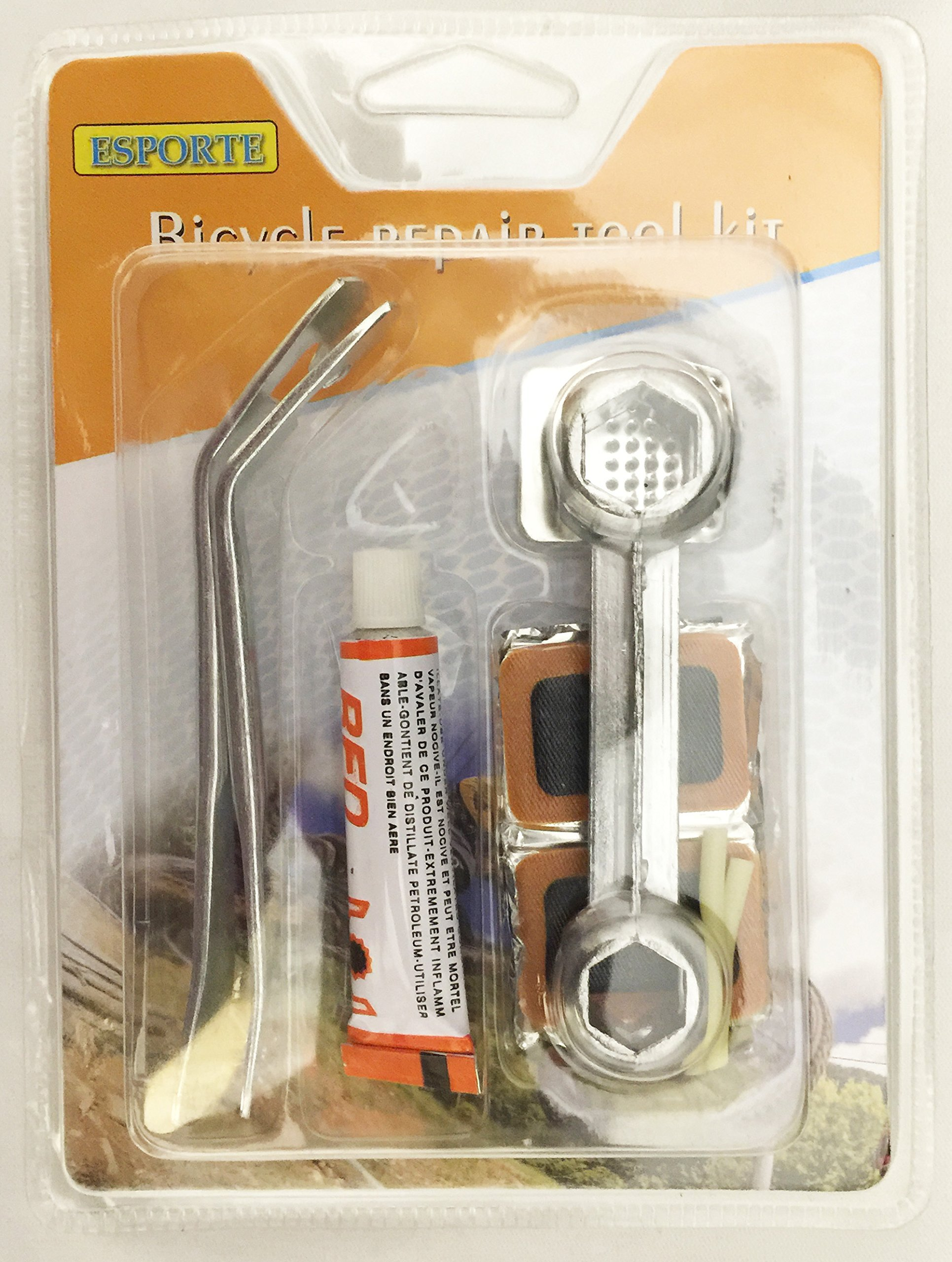 Creative Motion 14134-0 Bicycle Repair Tool Kit with Glue & patches For Tires