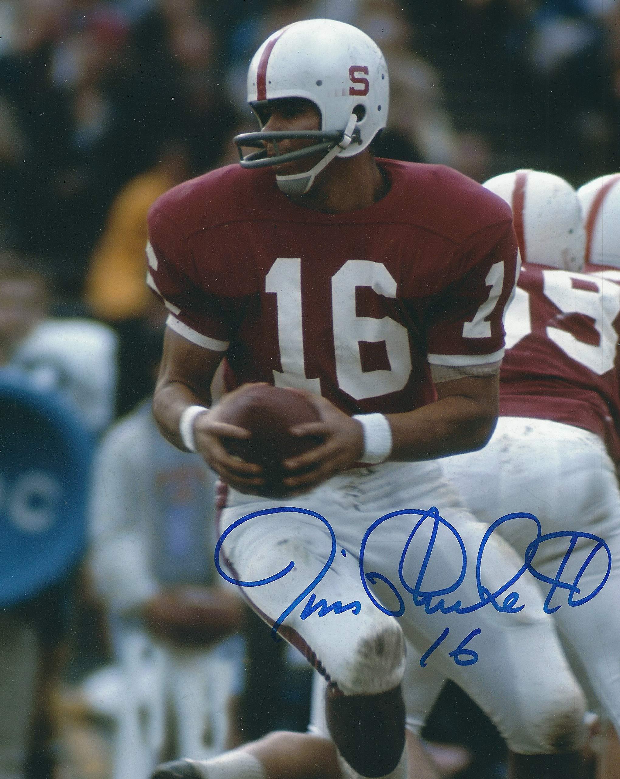 Autographed Jim Plunkett 8x10 Stanford University Photo