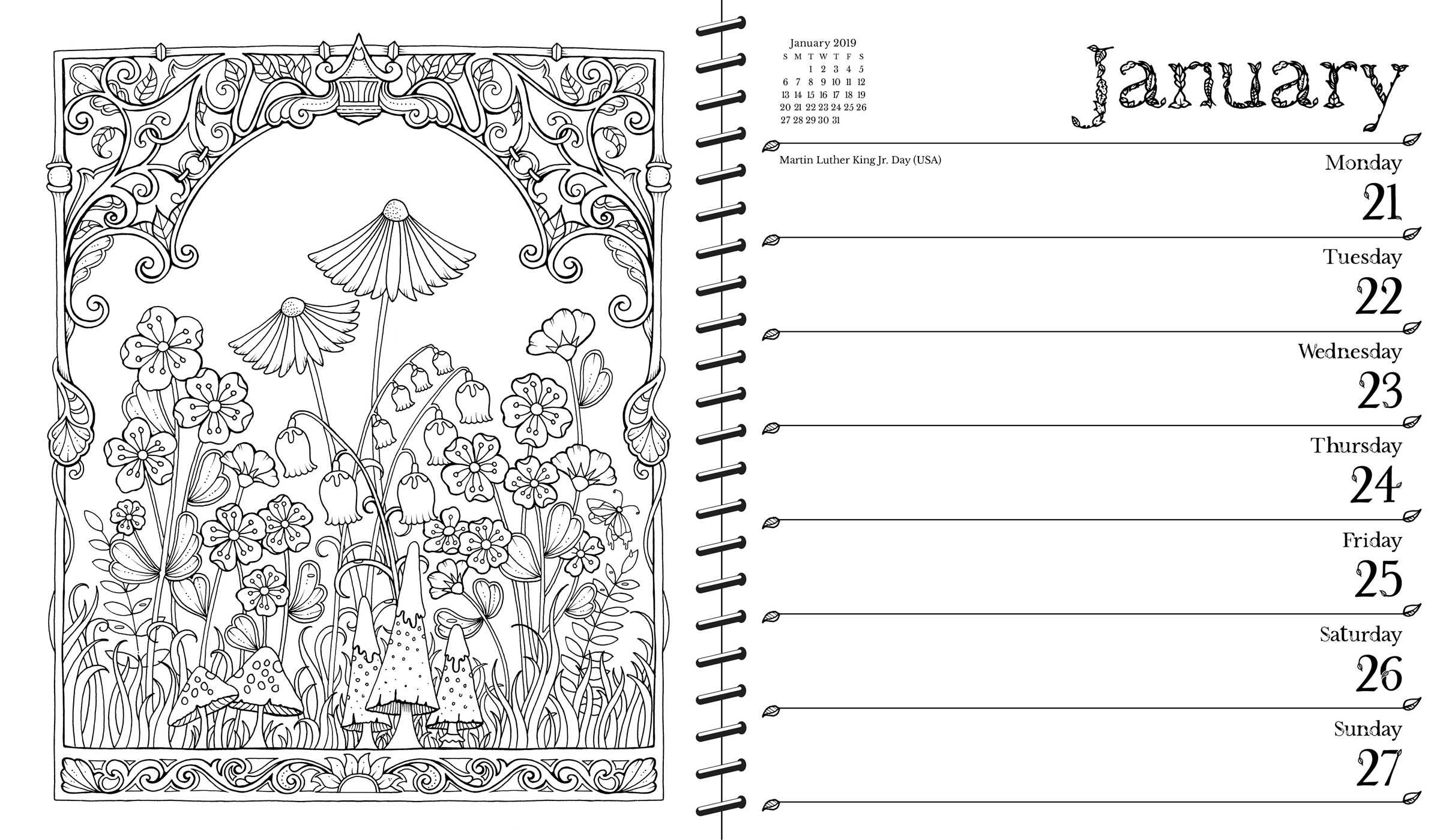 March Coloring Calendar 2019 Coloring Pages Printable | 1400x2409