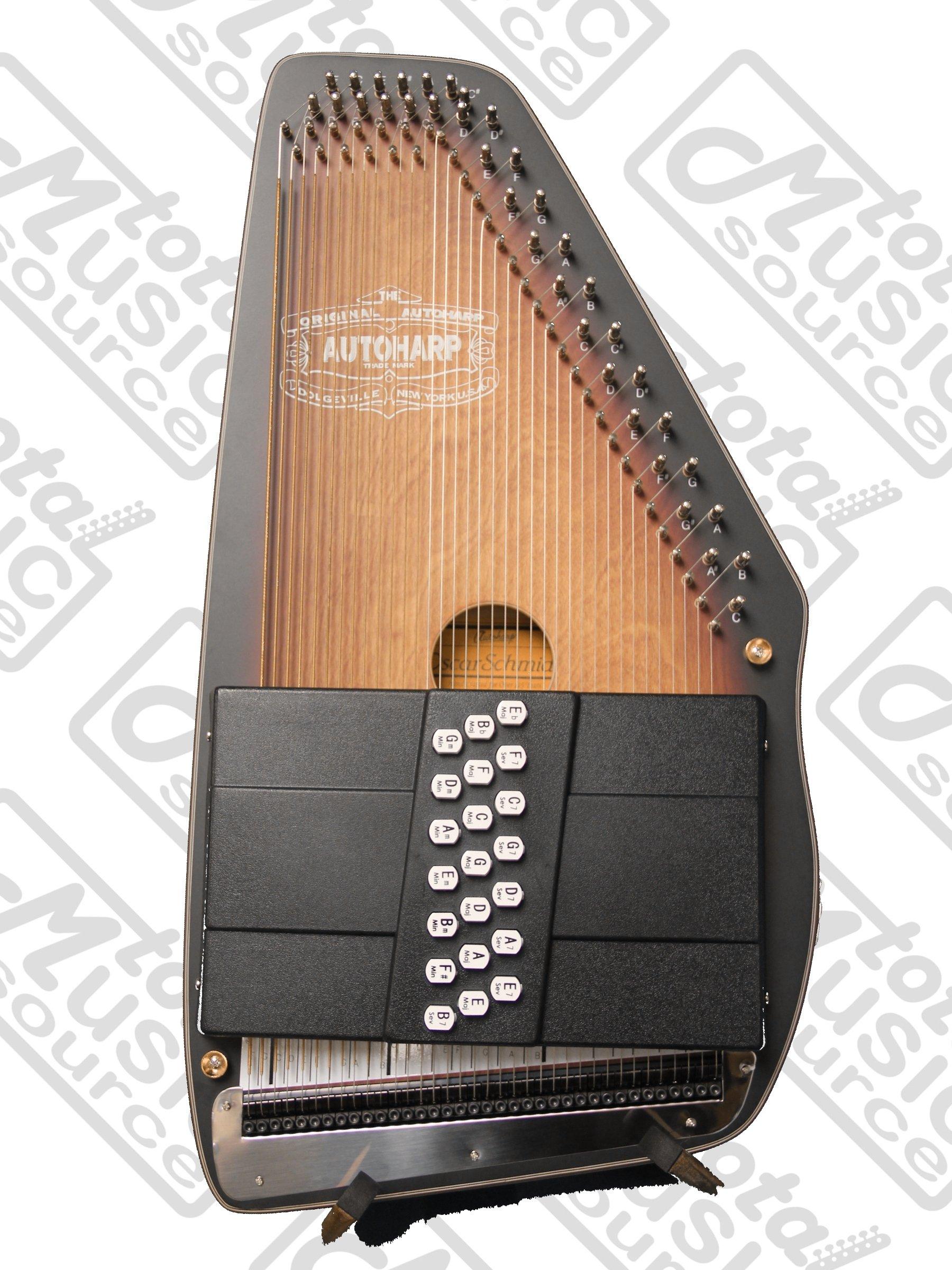 Oscar Schmidt OS11021AE Autoharp - Satin Brown