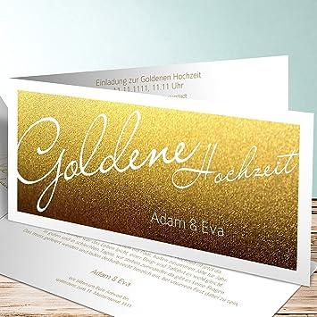 Vorlage Einladung Goldene Hochzeit Goldene Zeiten 55 Karten