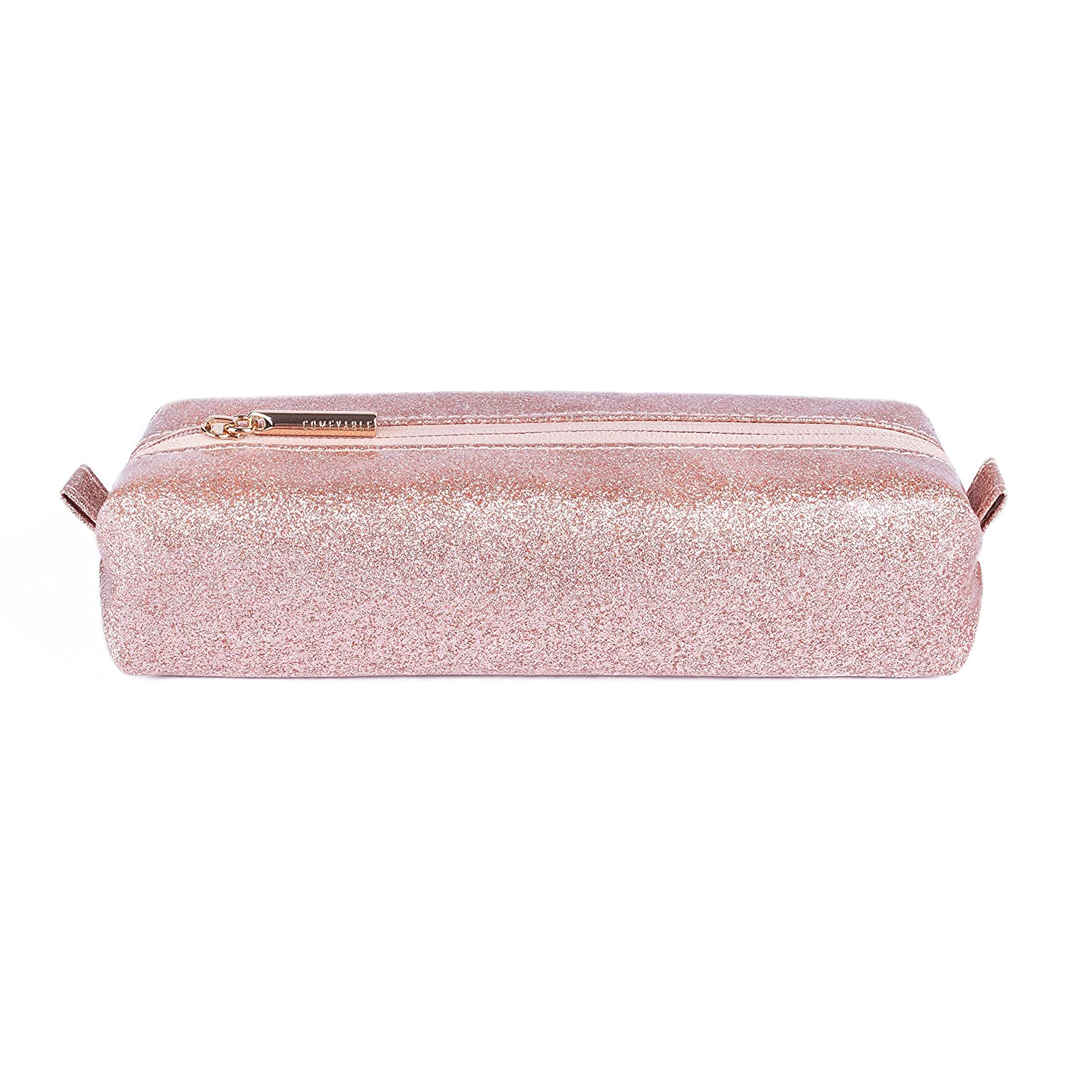 91a8bea6dfb8 Comfyable Small Cosmetic Bag for Purse Pencil Case Rectangular Makeup Bag  Waterproof Glitter...