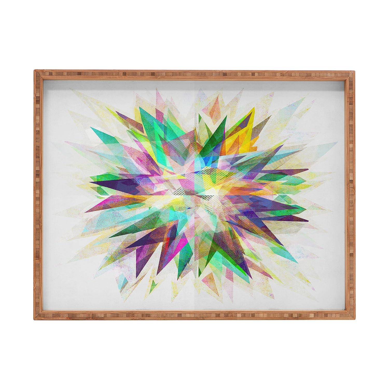 Deny Designs Mareike Boehmer Colorful 6 Y Indoor//Outdoor Rectangular Tray 17 x 22.5