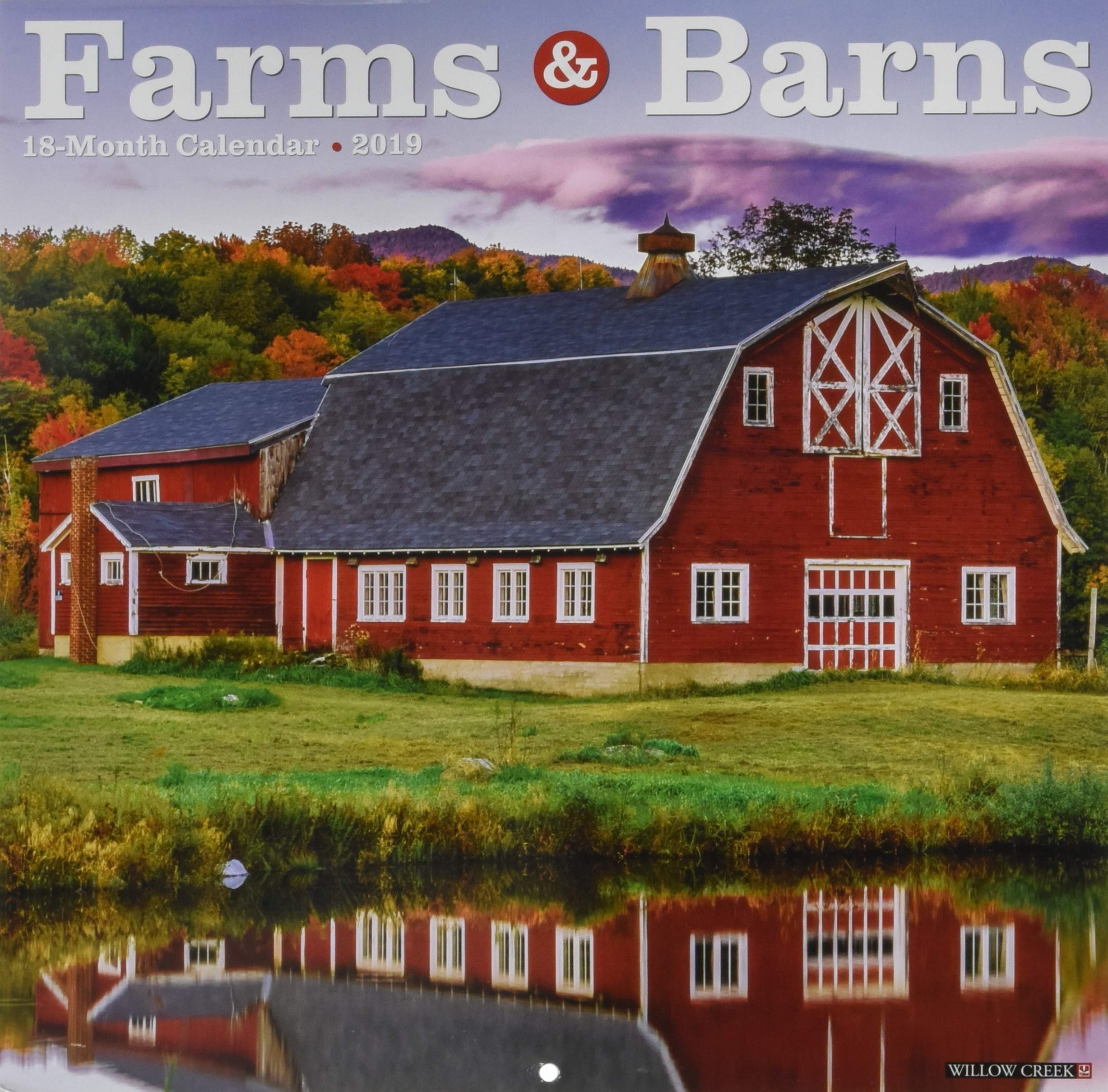Farms Barns 2019 Wall Calendar Willow Creek Press