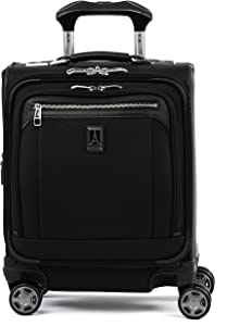 Travelpro Platinum Elite-Underseat Spinner Tote Bag with USB Port, Shadow Black, 16-Inch