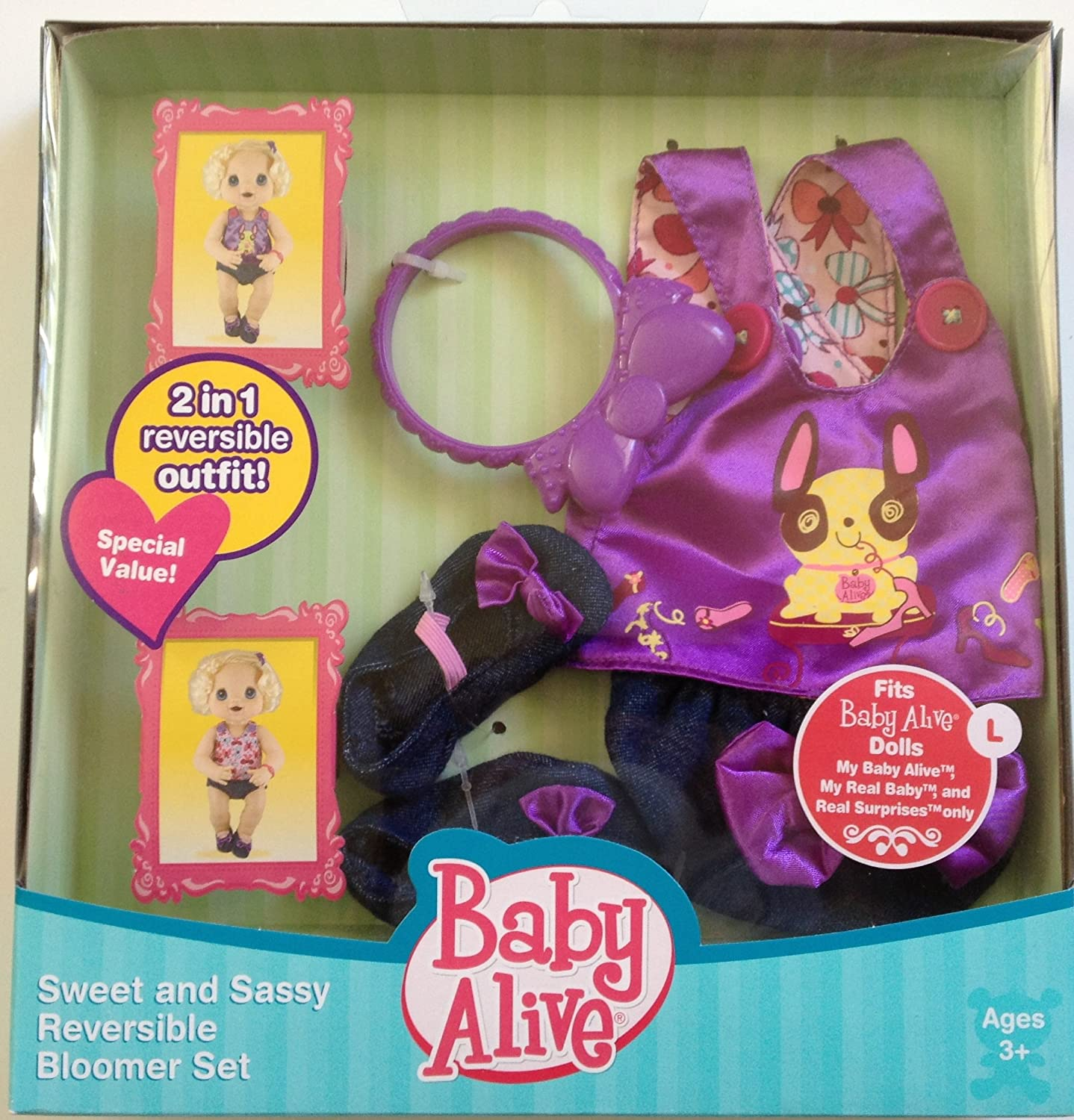 Amazon Baby Alive Sweet and Sassy Reversible Bloomer Set