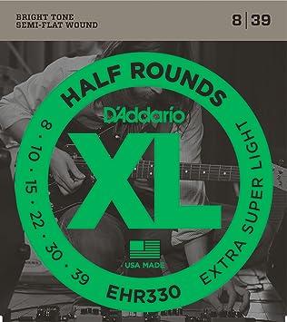 DAddario EHR330 - Juego de cuerdas para guitarra eléctrica.008 - .039