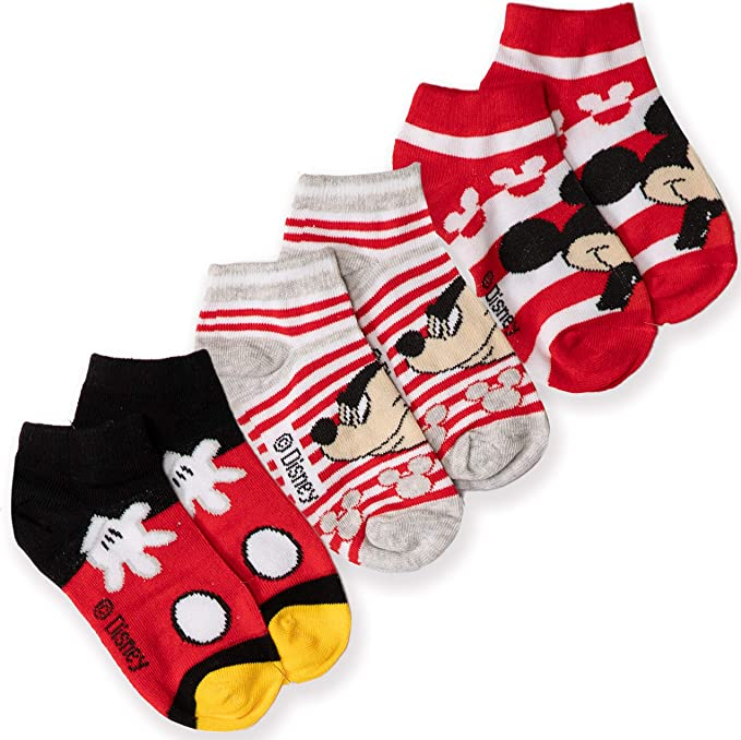 Kids Disney Mickey Mouse Character Socks 2 Pair Pack
