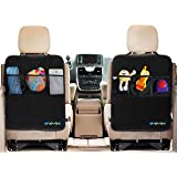 Enovoe Kick Mats With Organizer - Premium Car Back Seat Protector With Storage Pockets For The Backseat Of Your Car - 2 Pack