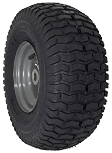 """MARASTAR 15x6.00-6"""" Front Tire Assembly Replacement for Craftsman Riding Mowers (21446)"""
