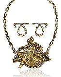 Zaveri Pearls Radha Krishna Temple Necklace Set for Women - ZPFK4002