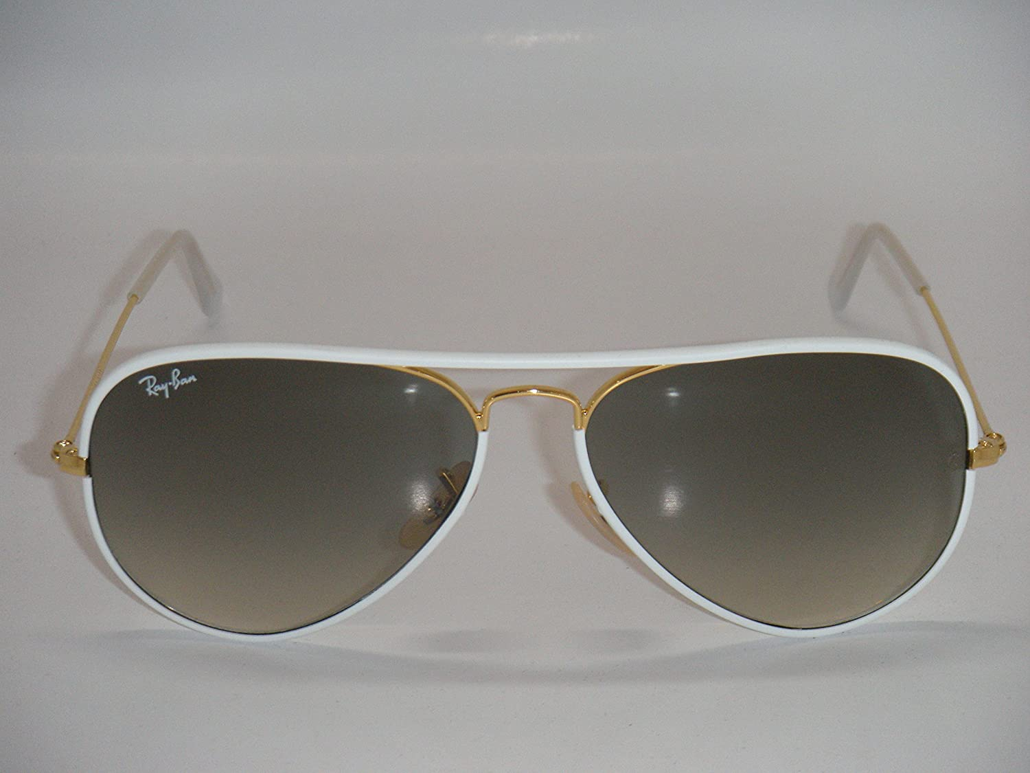 ray ban aviator white frame