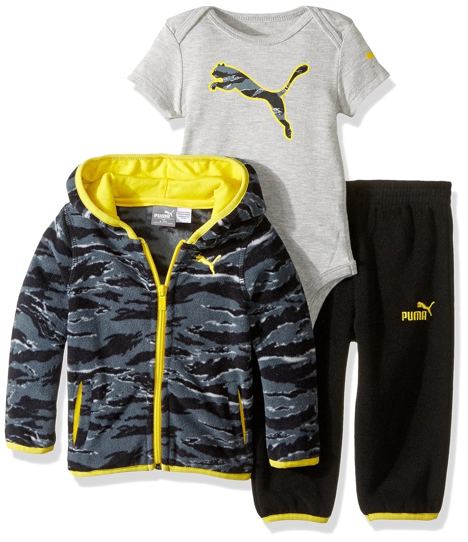 698b00729224 Amazon.com: PUMA Baby Boys' 3pc Micro Fleece Hoodie, Bodysuit, Pant ...