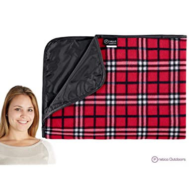 Premium Extra Large Picnic Blanket Machine Washable, Improved Backing & Carrying Buckle 58 x 80 inches