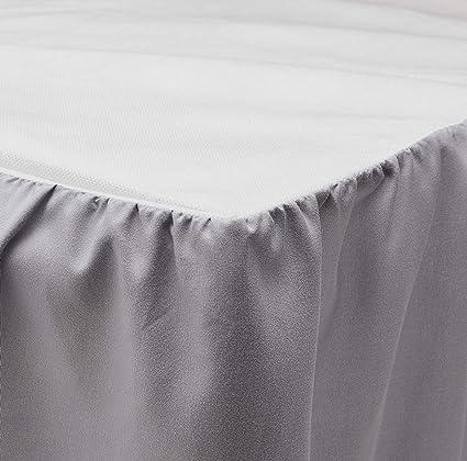 Amazon Com Martex Ruffle Bed Skirt Queen Light Gray Home Kitchen