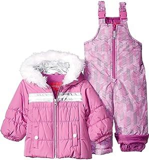 97b2664dc Amazon.com  London Fog Baby Girls  Snowsuit with Snowbib and Puffer ...