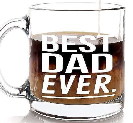 Amazon.com: Regalo para papá mejor papá Ever taza de café ...