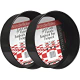 WonderBake set of 2 Loose Base 7 Inch Round Victoria Sandwich Cake Tins for Baking by Lets Cook Cookware
