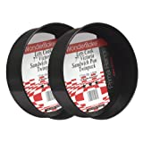 WonderBake set of 2 Loose Base 7 Inch Round Victoria Sandwich Cake Tins for Baking by Lets Cook