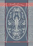 Garnier Thiebaut Maree Bretagne (Brittany Tide) Woven French Kitchen / Tea Jacquard Towel, 100 Percent Cotton