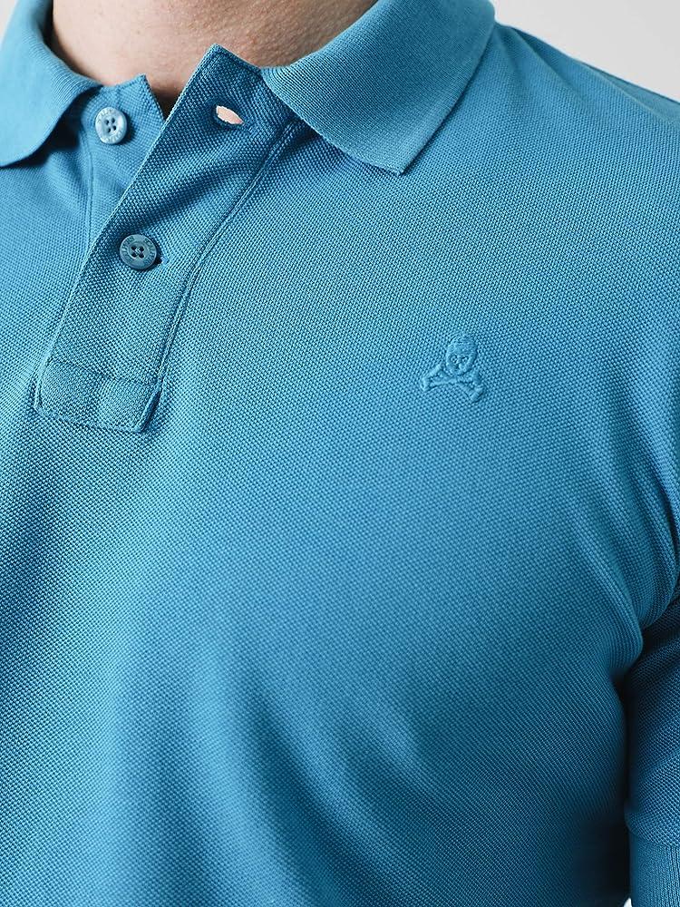 Scalpers Basic Polo, Azul (Blue 18033), Small (Tamaño del ...