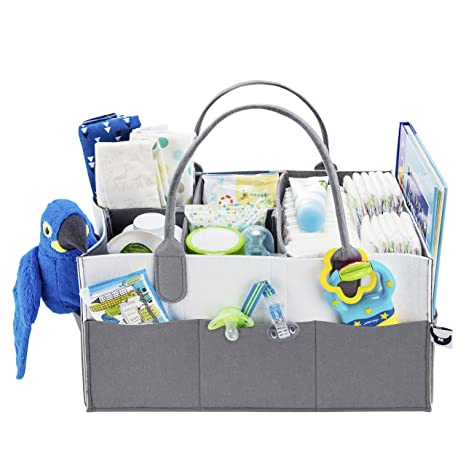 - Fluffy Soul Baby Diaper Caddy Organizer Stylish Changing Table Baby Basket